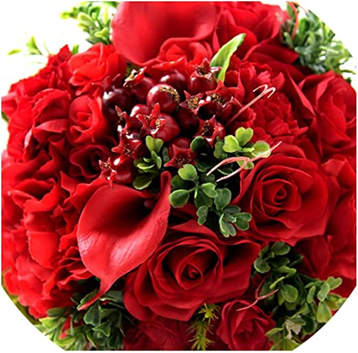 Amazon Com Red Real Touch Wedding Bouquets Wedding Decorations