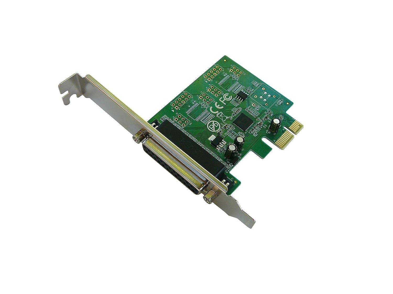 - PCIe Controller Card LPT ASIX99100 Chipset 1 port DB25 Parallel Printer Port
