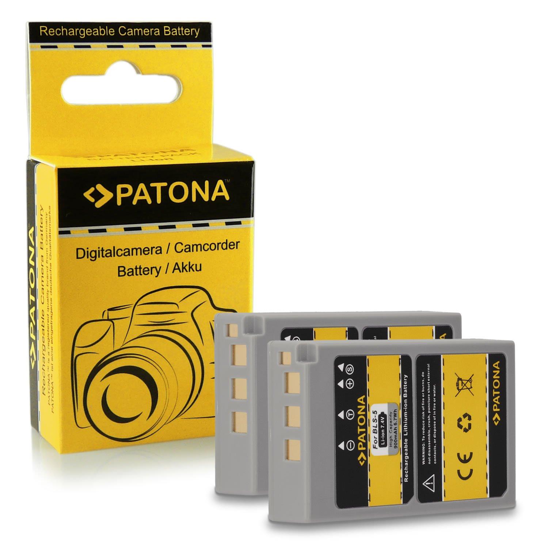 2x Batería PS-BLS5 BLS-5 para Olympus Pen E-PL1 | PEN E-PL2 | Pen E-PL3 | Pen E-PL5 | Pen E-PL6 | Pen E-PM1 | Pen E-PM2 y mucho más… [ Li-ion; 900mAh; 7.4V ]