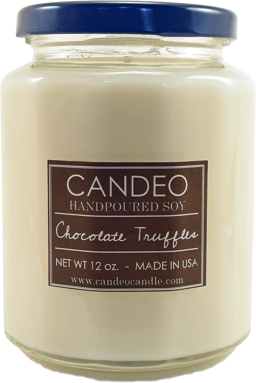 Chocolate Truffles, Handpoured Soy Candle Jar, Made in The USA, 12 oz Jar Candle