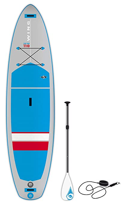 BIC Sport Wing SUP Air Inflatable Stand Up Package Complete with Paddle Board Blue/Grey/Red, 110
