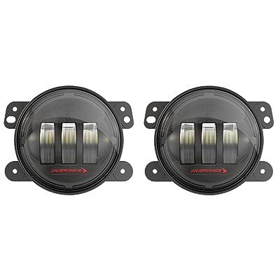JW Speaker LED Jeep Fog Lights, Model 6145 J2 Series with Black Bezel, Set of 2: Automotive