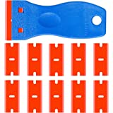 Double Edged Plastic Razor Blade Scrapers Knife with Contoured Grip for Scraping Labels and Decals Sticker From Glass…