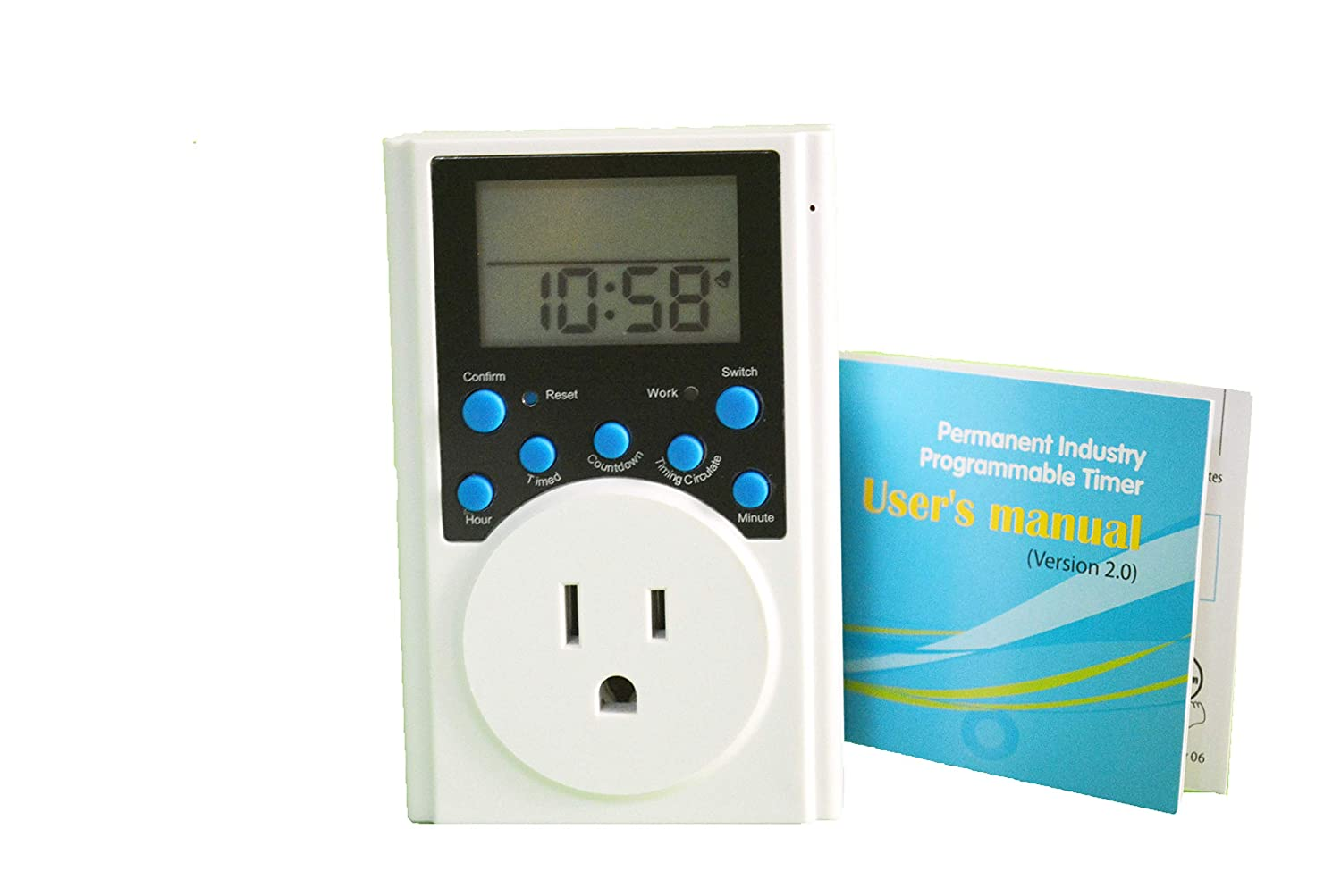 multi function programmable timer outlet count down on and off timer
