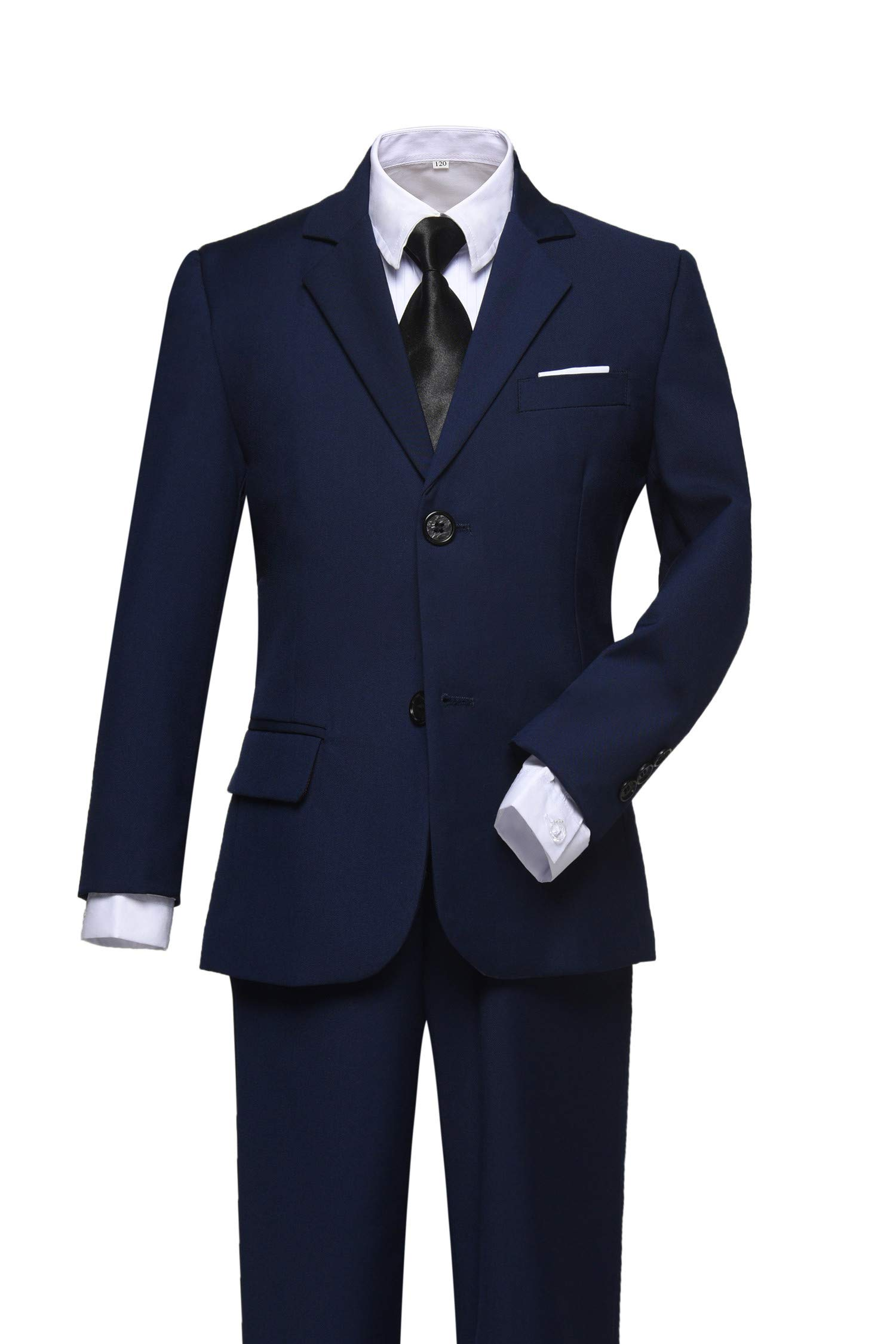 Visaccy Ring Bearer Outfit Boys First Communion Navy Suits Size 5