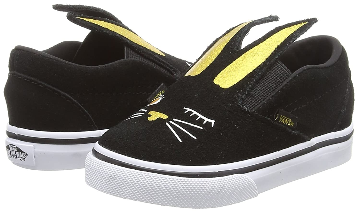 Vans Toddler Slip-on Bunny Shoes B07BWYLG51 Black/Gold 2.5 M US Toddler|Bunny Black/Gold B07BWYLG51 4fdf6a