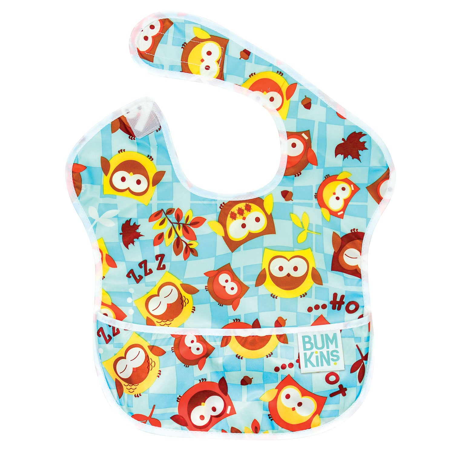 Bumkins Waterproof Superbib, Blue Owl S-240
