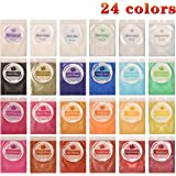Biutee Mica Powder 24 Colors pigments for Slime 5g/pcs Soap Making dye Food Grade Skin Safe Resin Dye for Soap Making/Bath Bomb/Resin Jewelry/Nail Art/Eyeshadow DIY/Candle Making (24 Colors)