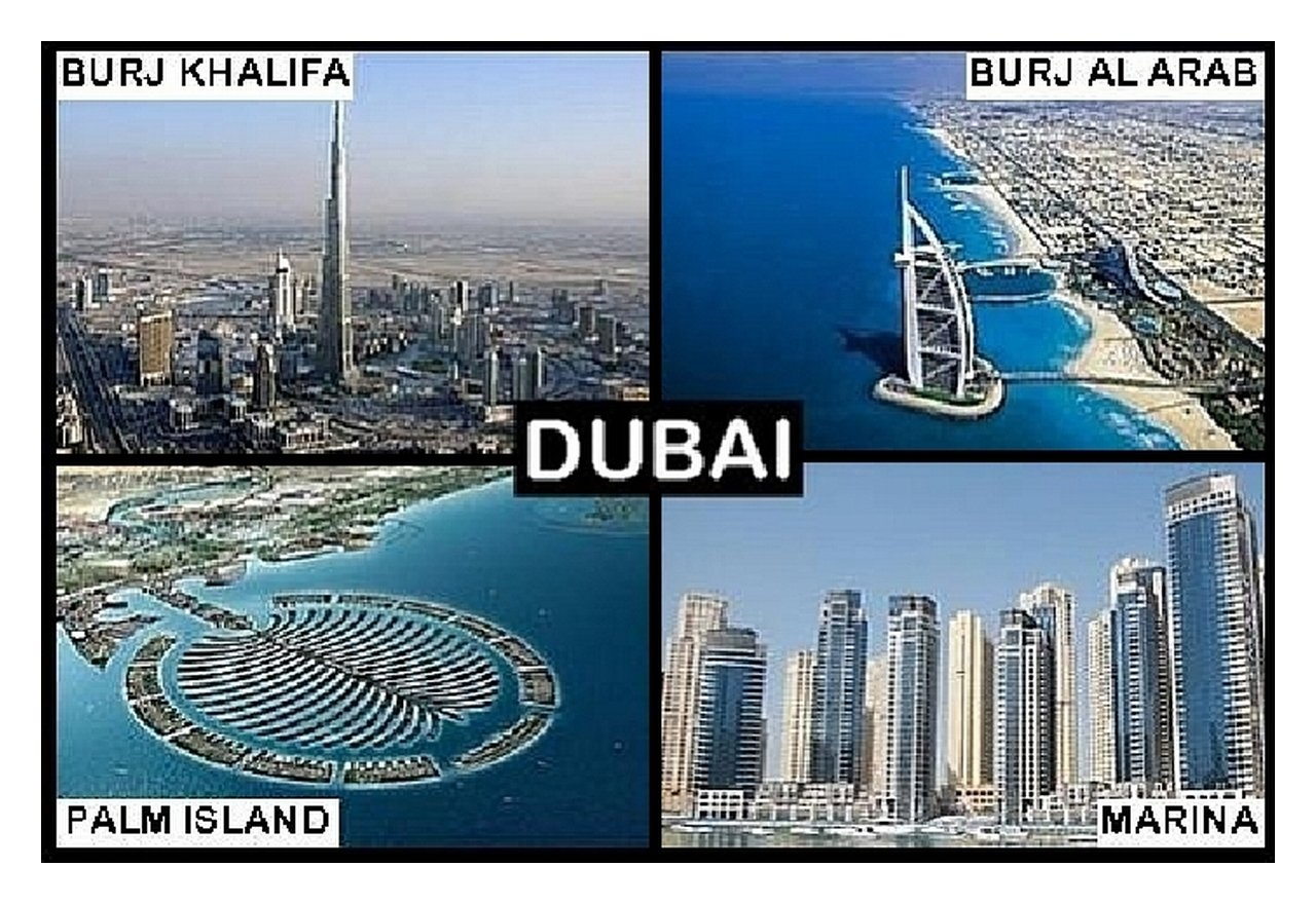 SOUVENIR FRIDGE MAGNET DUBAI UAE 9cm x 6cm Jumbo