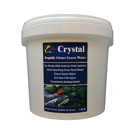 Verde de estanque de agua tratamiento Hydra Crystal 5Kg para aguas cristalinas trata hasta 50.000 L