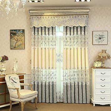 Amazon.com: Curtain Window Curtain Gauze Bedroom Shading ...
