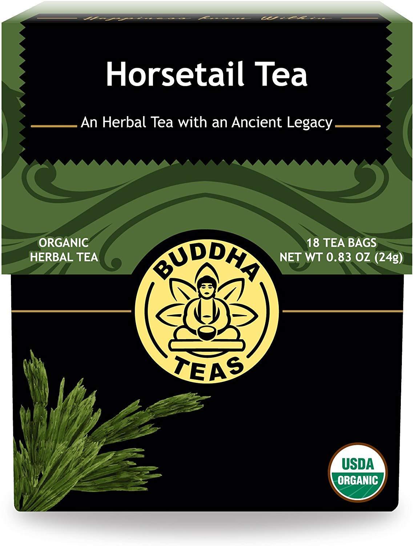 Buddha Teas Organic Horsetail Tea   18 Bleach-Free Tea Bags   Optimizes Urinary Tract Health   Supports Hair Growth and Bone Development   Natural Source of Vitamin C   Caffeine-Free   No GMOs