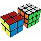 ZENFNI スピードキューブ 2個セット 2x2x2 3x3x3 世界基準配色 ver.2.0 競技専用 回転スムーズ スクラブ 滑り止め 防塵 立体パズル キューブ 生涯保証