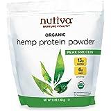 Nutiva Organic Cold-Pressed Raw Hemp Seed Protein Powder, Peak Protein, 3 Pound, USDA Organic, Non-GMO, Whole 30 Approved, Ve