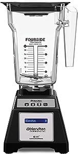 Blendtec EZ 600 Blender - FourSide Jar (75 oz) - Professional-Grade Power - Self-Cleaning - 4 Pre-programmed Cycles - Black