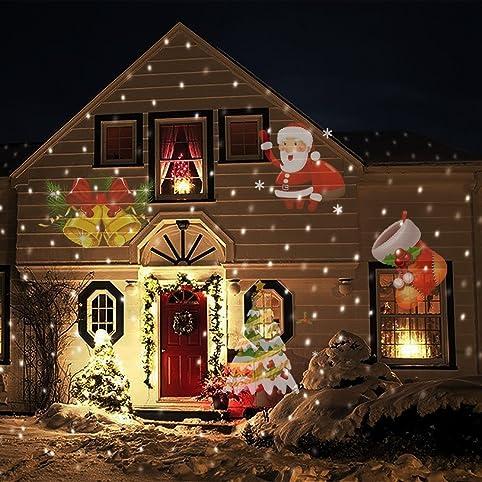 MILEEO LED 12 Différents modèles projecteurs hydrofuge démontable lumières  Halloween Carnaval extérieur de Noël éclairage Décoration