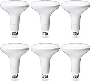 AmazonBasics Commercial Grade LED Light Bulb | 75-Watt Equivalent, BR40 LED, Daylight, Dimmable, 6-Pack