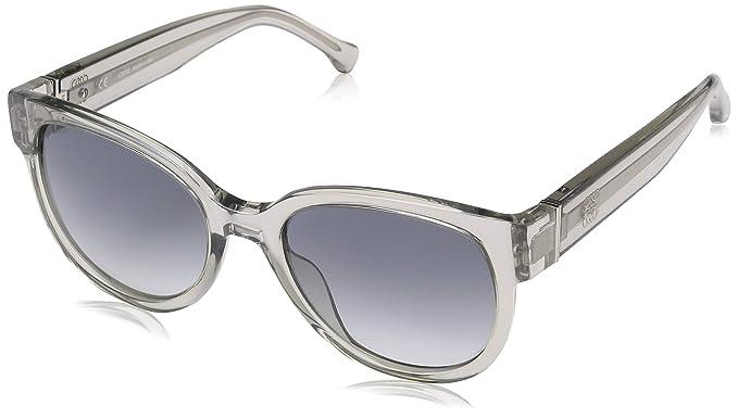 Loewe SLW968M5306S8 Gafas de Sol, Shiny Transparente Grey ...