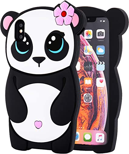 Amazon Com Topsz Flower Panda Case For Iphone Xr 6 1 Silicone 3d