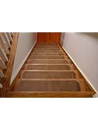 Comfy Stair Tread Treads Indoor Skid Slip Resistant Carpet Stair Tread  Treads Machine Washable 8 ½