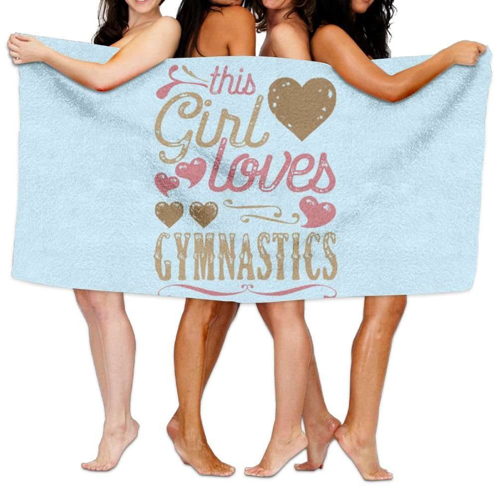 Lichang Beach Pool Custom Bath Towels Soft Girl Loves Gymnastics Game Super Absorbent Microfiber