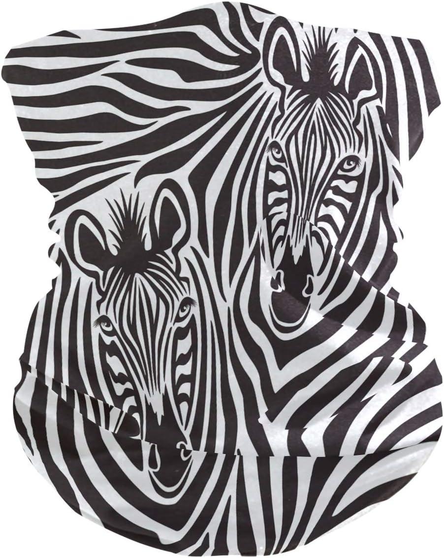 ALARGE - Pañuelo suave para la cabeza, diseño de cebra de animales africanos, transpirable, para la cara, el polvo, la protección del sol, máscara para cuello, pasamontañas para niños y niñas