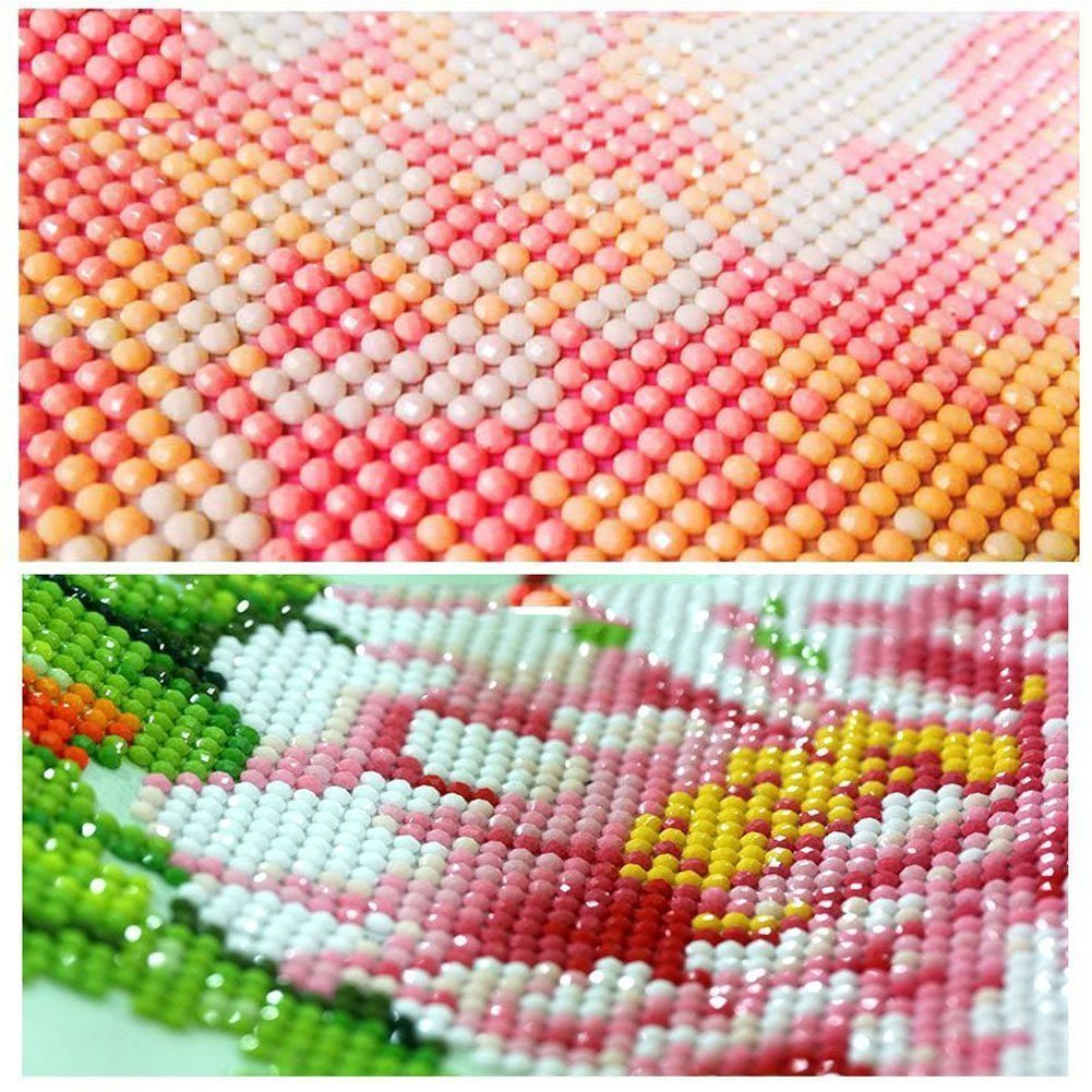 strass ricamo PICTURES Arts Craft Home Wall Decor Beautiful Flower Garden 80/ cm x 30/ cm Landscapes Garden Gemini /_ Mall/® 5D DIY Diamond Painting Kits