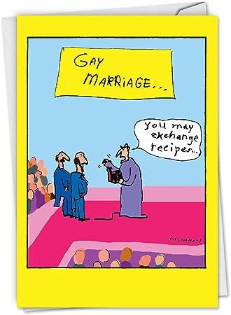 What He Said Funny Gay Wedding Card