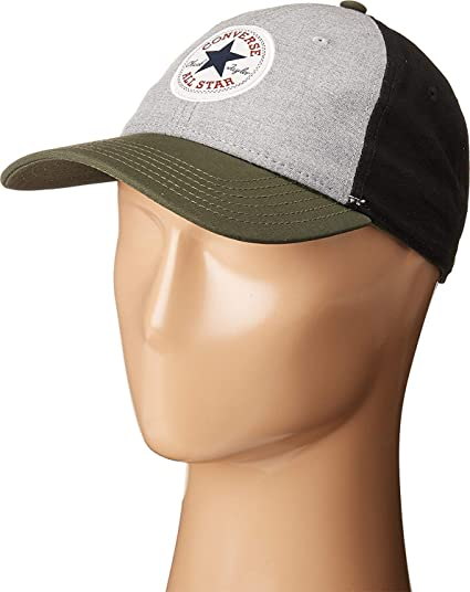 d42e14ff7c8c Amazon.com  Converse Unisex Core Color Block Cap Athletic Navy Dark Sage Hat   Clothing