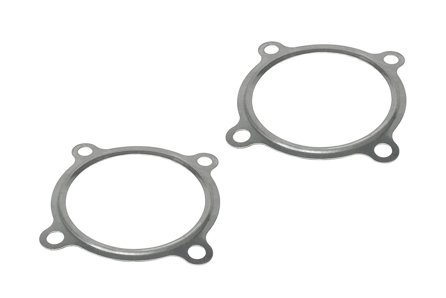 PitVisit PV Raceworks T3 Divided T3//T4 Turbo Turbine Inlet Twin Scroll 4 Bolt Gasket Stainless Steel Compatible with Garrett Precision PTE Turbonetics Turbocharger