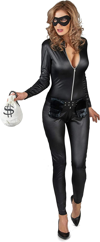 Generique - Disfraz de ladrona enmascarada Sexy Mujer S: Amazon.es ...