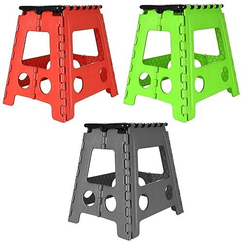 2 X Large Folding Step Stool 150kg Capacity Amazon Co