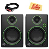 Mackie CR3 3-Inch Multimedia Monitors Bundle with 2 Monitors, Stereo Breakout Cable, and Austin Bazaar Polishing Cloth