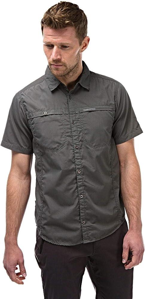 Craghoppers Kiwi Camisa Trekking de Manga Corta para Hombre,S: Amazon.es: Ropa y accesorios