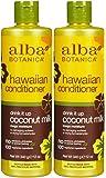 Alba Botanica Hawaiian Extra-Rich Hair Conditioner, Coconut Milk, 12 oz, 2 pk