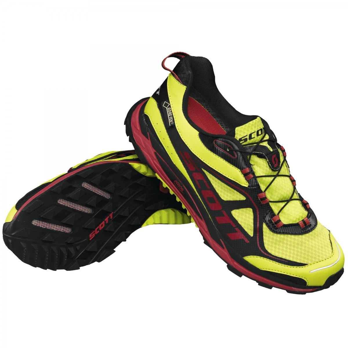 SCOTT(スコット) ランニングシューズ eRide Nakoa Trail GTX イエロー、レッド B00I8NUIMQ US9/27cm