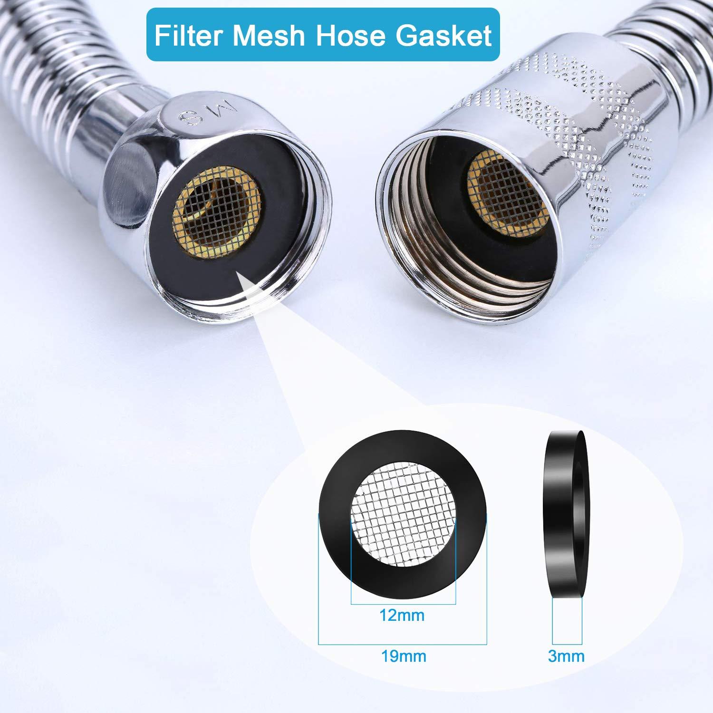 2 Esponjas de Filtro de Repuesto y Una Junta T/órica de Malla de Filtro O-ring Wemk 2 Paquetes de Perlas Minerales de Repuesto para Cabezal de Ducha Perlas de Filtrado de Di/ámetro de 2.5mm