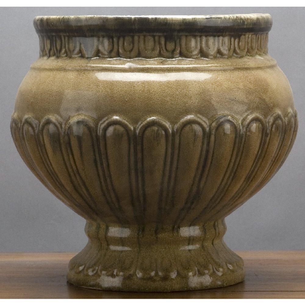 Home decor. Ceramic Vase. Dimension: 11.5 x 11.5 x 10.5. Pattern: Majolica.