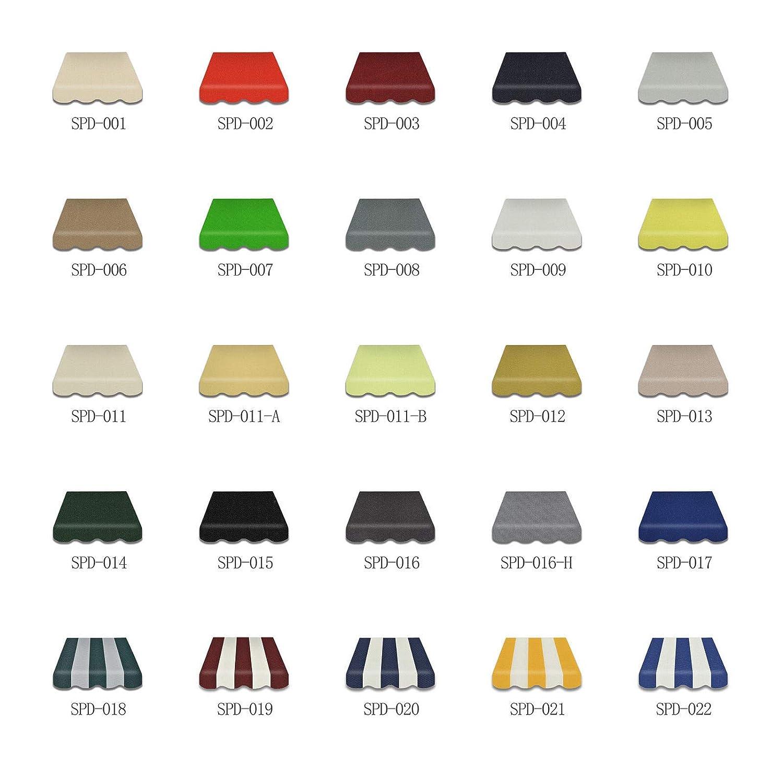 Home /& Trends Markisen Tuch Markisenbespannung Ersatzstoffe SPD025 Ma/ße 3 x 2 m Markisenstoffen ohne Volant fertig gen/äht mit Bordeux