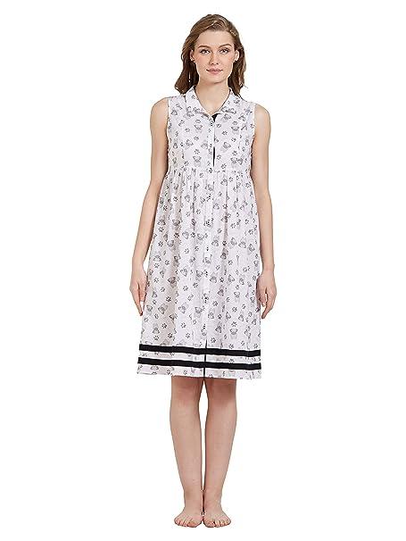 Image Unavailable. Image not available for. Color  Mystere Paris Pug Print  Shirt Dress Sleepwear Nightwear Ladies Cute Womens Cotton White C274C 73f2e227b