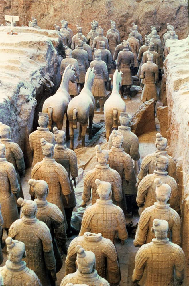 - Postcard 210 BC art247 Terracotta Army Qin Dynasty - 6x4 inch Highest Quality Standard Size Pack Of 8 Pack of 8