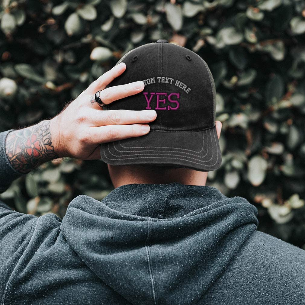 Custom Baseball Cap Funny Humor Sarcasm Word No F Embroidery Cotton Soft Mesh Cap Snapback Black Charcoal Personalized Text Here