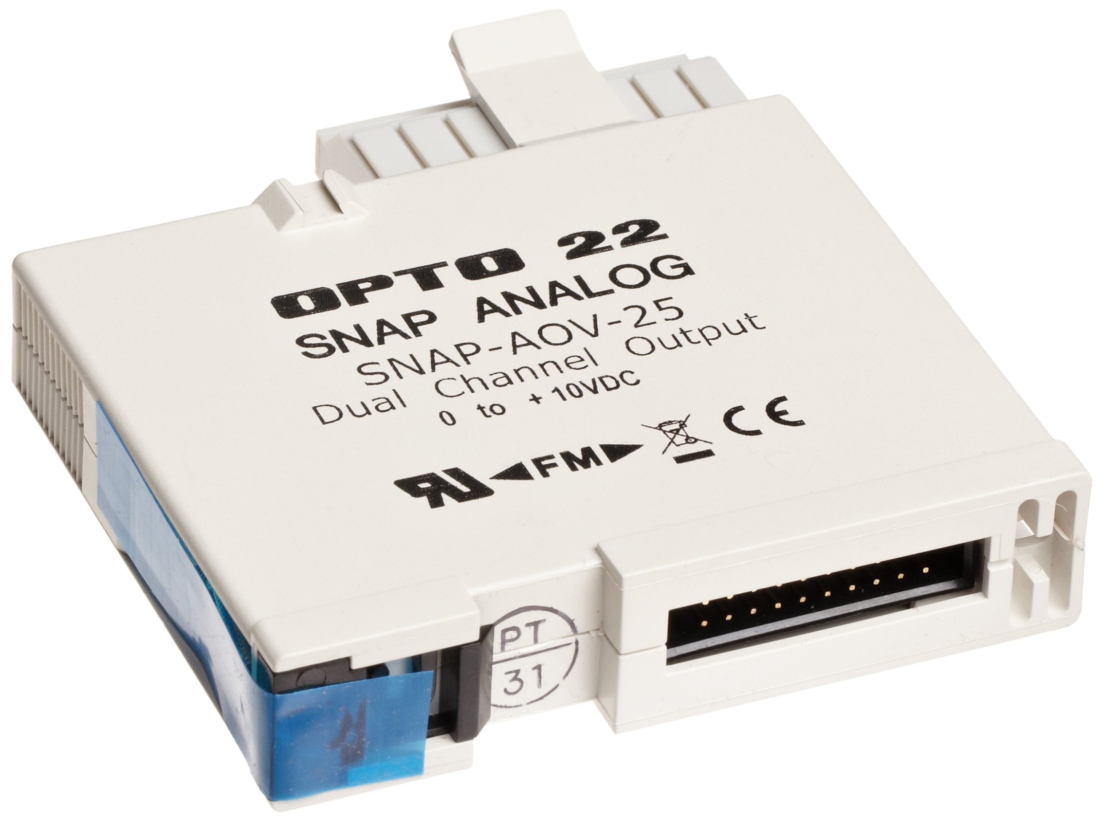 Opto 22 SNAP-AOV-25 - SNAP Analog Voltage Output Module, 2-Channel, 0-10 VDC Output