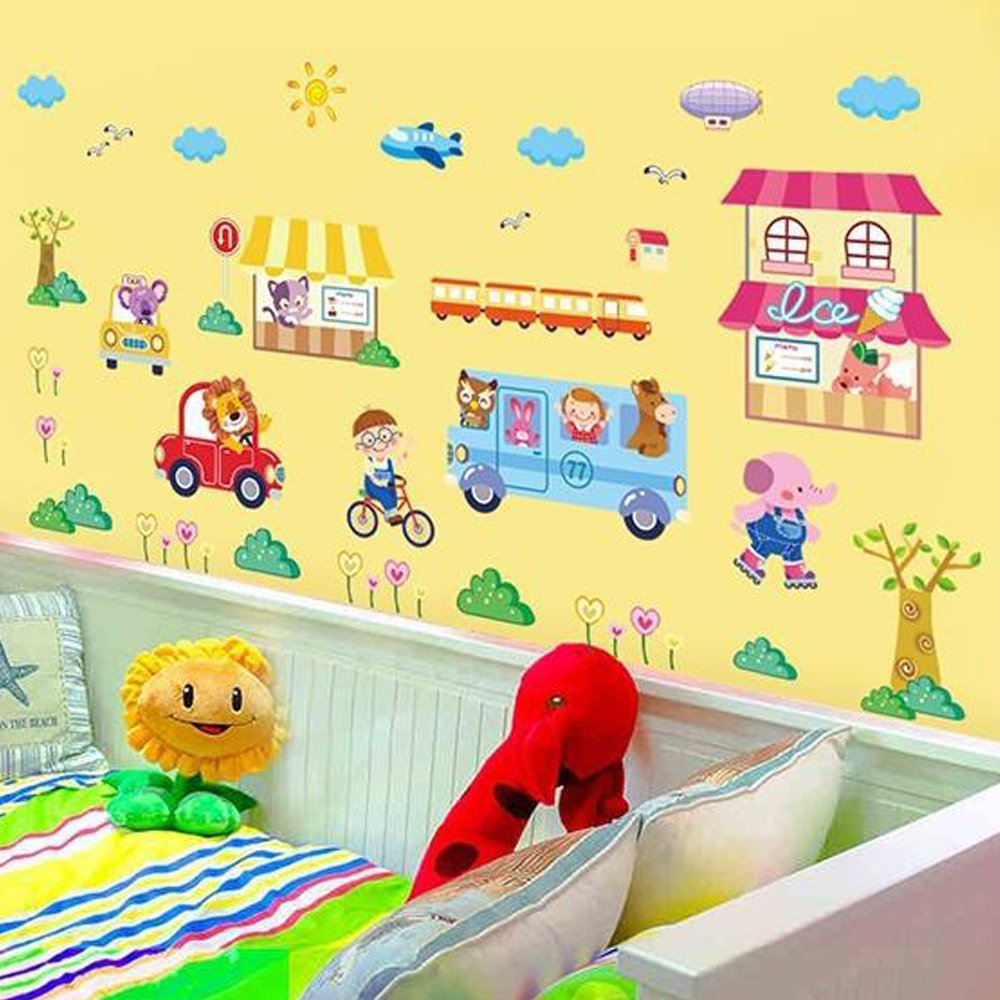 So cool store Home PVC Paper Decal House Vinyl Wallpaper Murals Wall ...