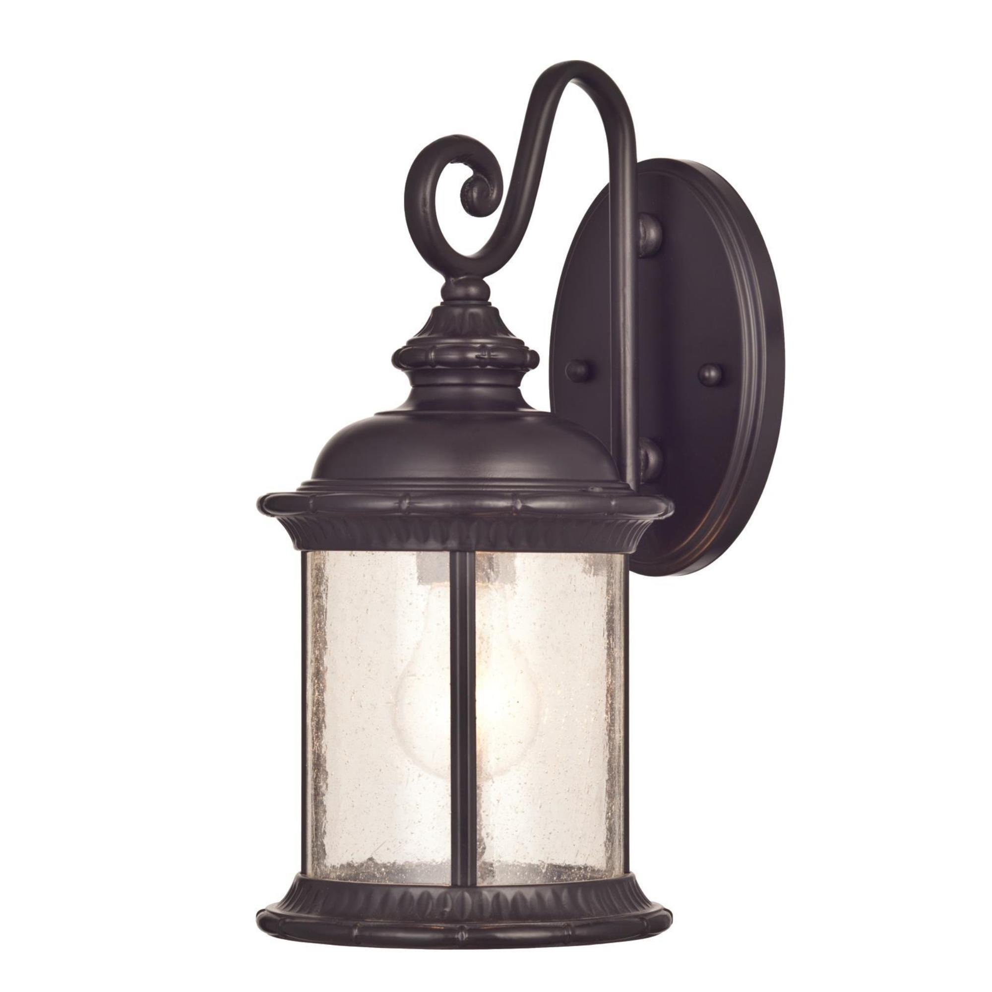 Westinghouse Lighting 6230600 New Haven One-Light Exterior Wall Lantern on Steel with Clear Seeded Glass, Oil Rubbed Bronze Finish by Westinghouse Lighting