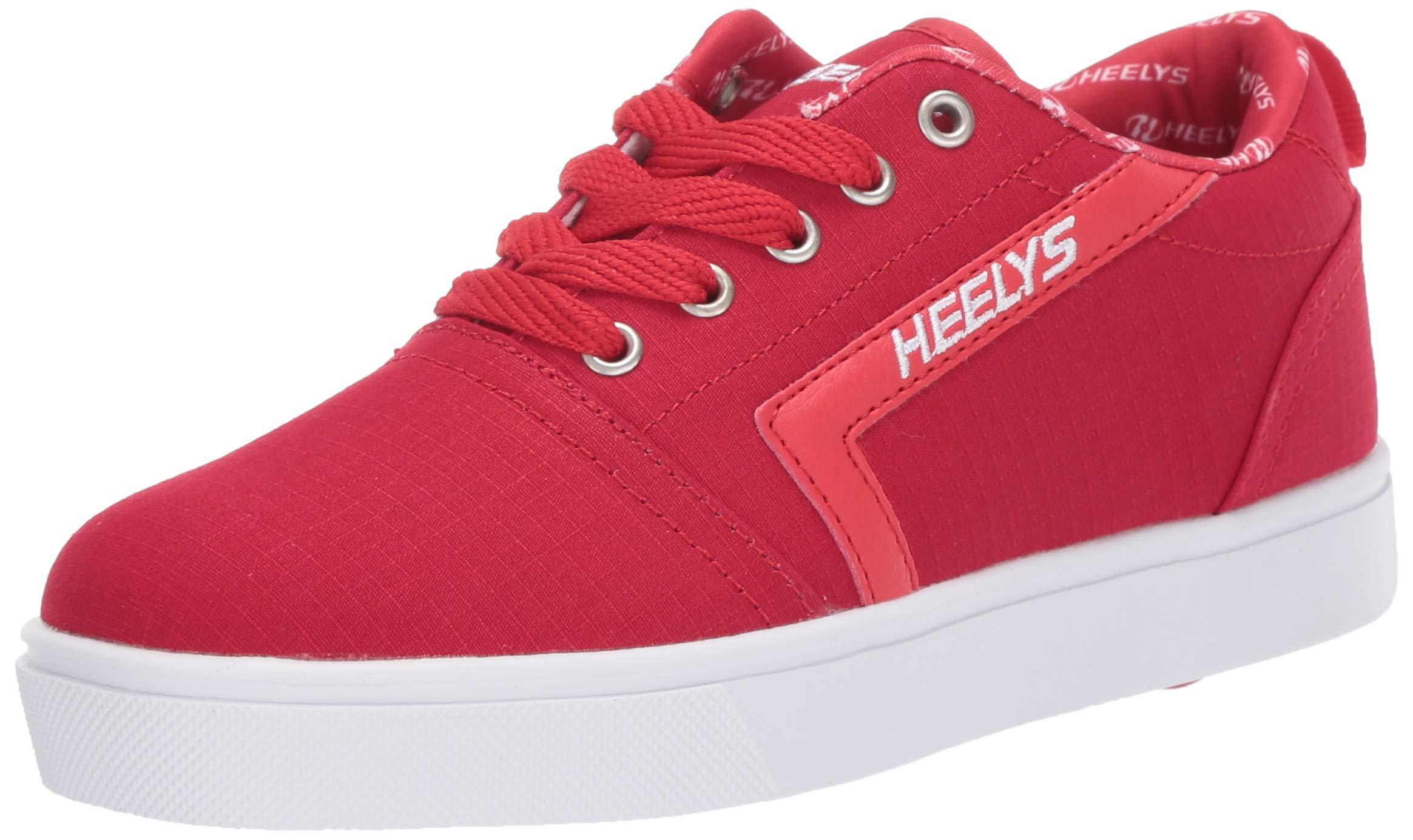 Heelys Boys' GR8 Pro Tennis Shoe RED/White/RIP Stop 1 M US Big Kid