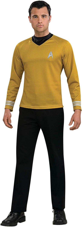 Rubie's Star Trek Gold Star Fleet Uniform Shirt, Gold, X-Large Costume