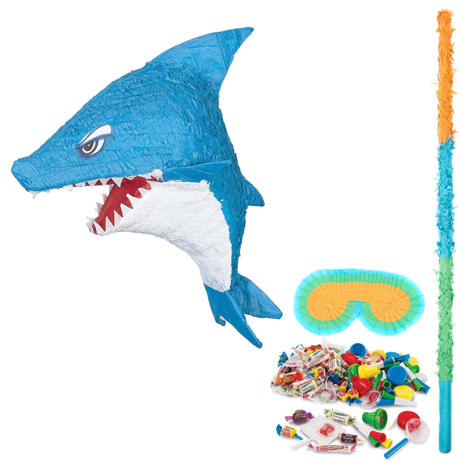 BirthdayExpress Shark Party Supplies Pinata Kit