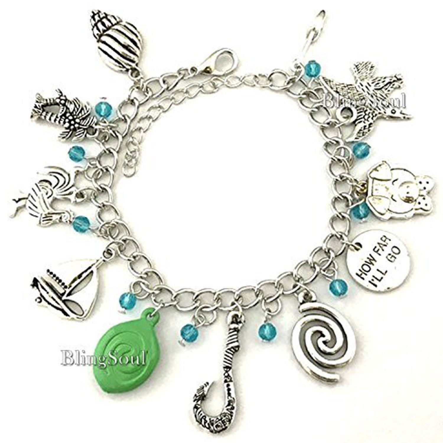 BlingSoul Maui Moana Charm Bracelet - Maui Hook Jewelry Moana Gift Merchandise for Women by BlingSoul (Image #2)