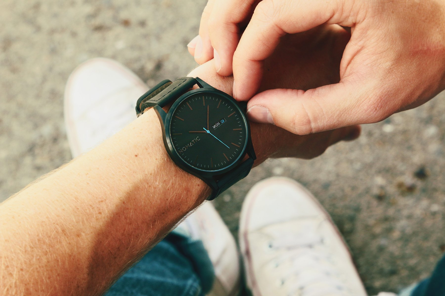 The Nomatic Leather Band Water Resistant Watch - Black by NOMATIC (Image #3)